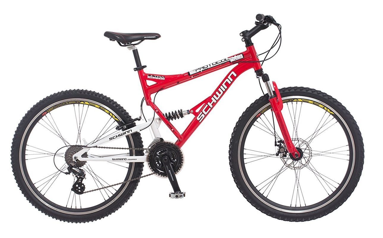 a7b5599bc Schwinn Protocol 1.0 Men s Dual-Suspension Mountain Bike Review